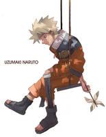 Naruto Alone by tagailog