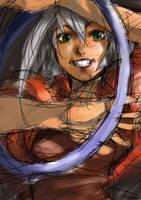 Sketchy girl by tagailog