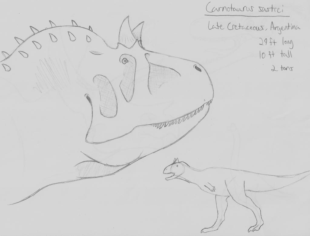 Species Spectrum Challenge Week 6: Carnotaurus v2 by guilmon182