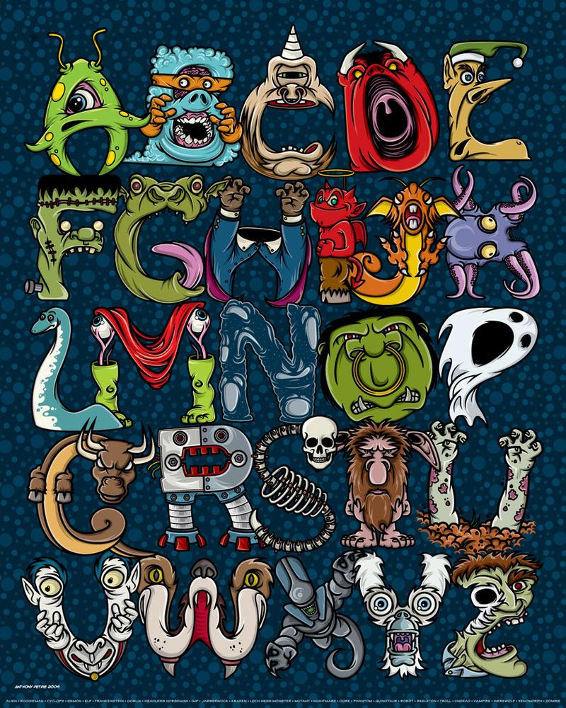 Monster Alphabet by APetrie74