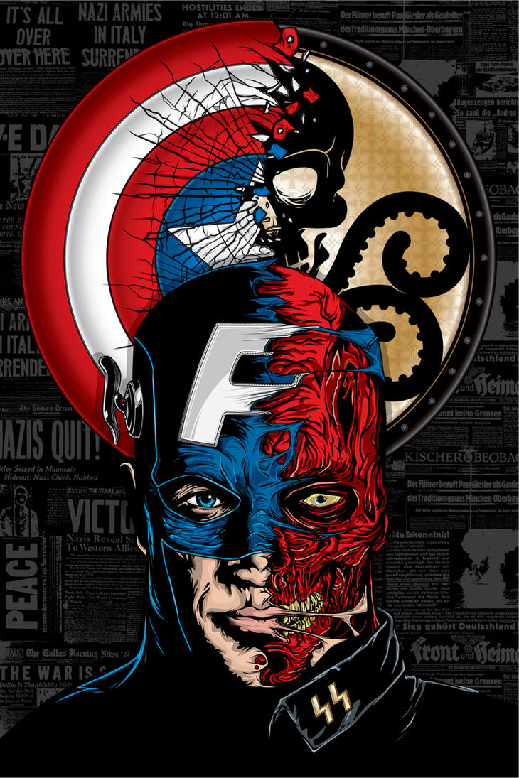 Captain America vs. Red Skull by APetrie74