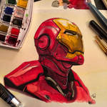 Iron Man Watercolor