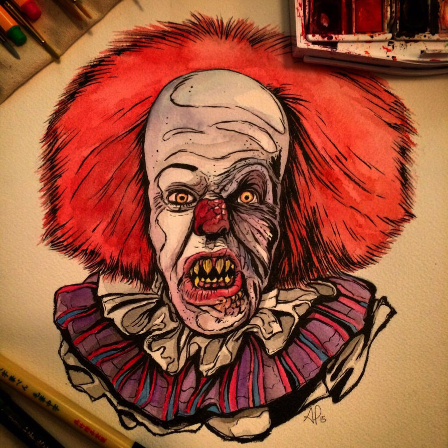 Pennywise Watercolor by APetrie74