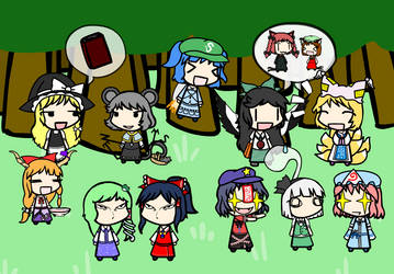 Top 10 Touhou Characters by kinglerking