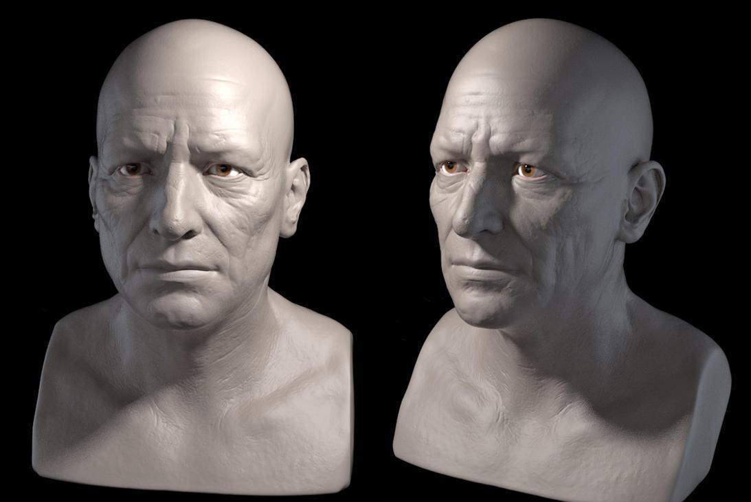 Male Head WIP by gennady