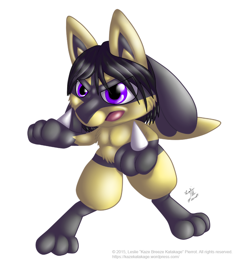 COMMISSION: Shiny Lucario OC Chibi by Kaze-Breeze-Katakage