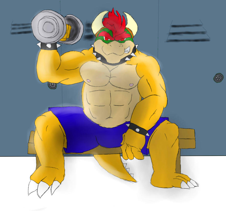 Bowser's workout by Rouen-Komamura