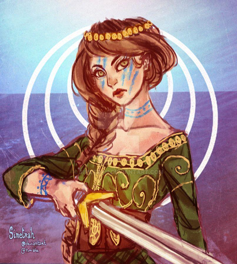 Treasa for BrielleArt (sketch) by Simetrah