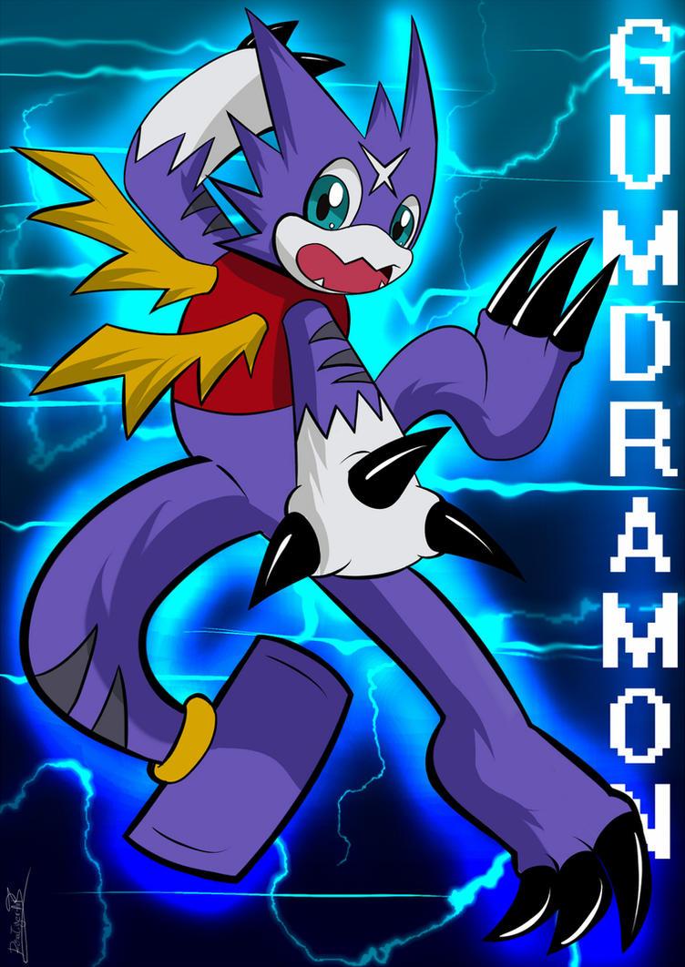 Gumdramon by RinaTiger-ArtGumdramon