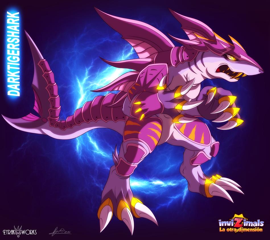 Collab darktigershark by rinatiger art on deviantart - Tigershark invizimals ...