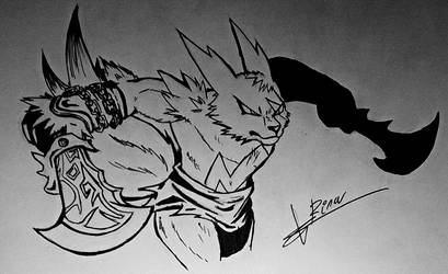 Zangoose-Kratos by RinaTiger-Art