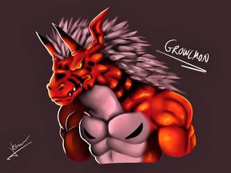 Speedpaint: Growlmon by RinaTiger-Art