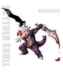 Marowak : Scyther Skull by RinaTiger-Art