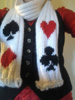 Card Suit Scarf by KnotInTheCoffin