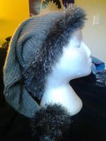Custom Santa Hat (Gray) by KnotInTheCoffin