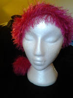 Custom Santa Hat (Pink and Black) by KnotInTheCoffin