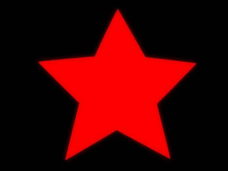 red soviet-style star