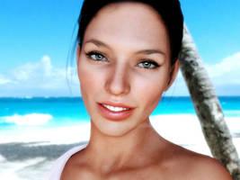 Lizzie on the Beach by Kadaj777