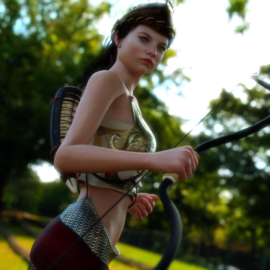 Young Huntress by Kadaj777