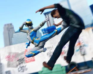 Flying side kick by Kadaj777