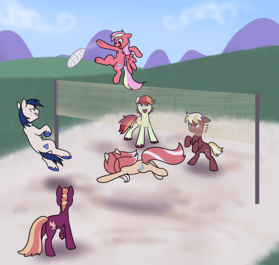 Apple Cousins Volleyball by cat4lyst