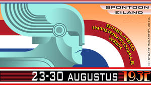 1932 Speed Week Poster