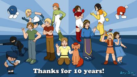 AmysGames 10 Year Anniversary by The-Legendary-Female