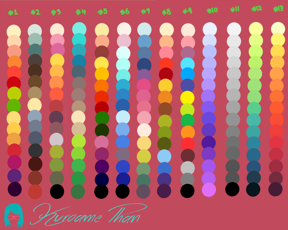 Paleta colores by kuroamephan on deviantart - Paleta de colores valentine ...