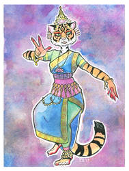 Indian Dancer Character Design by sketchdoll