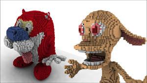Legolized Ren and Stimpy