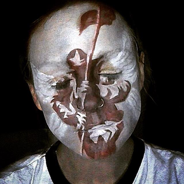 Linkin Park Hybrid Theory Album Cover Face Paint By Lgoresfx On Deviantart