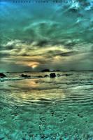 emerald sunset by sandeepsarma