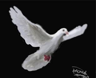 Dove Painting by EglantineAlba