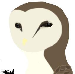 Barn owl painting by EglantineAlba