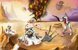 Collab - Fallen Stormtroopers in Desert Planet by HPNerd-ALS