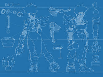Steampunk Girl Blueprint by HPNerd-ALS