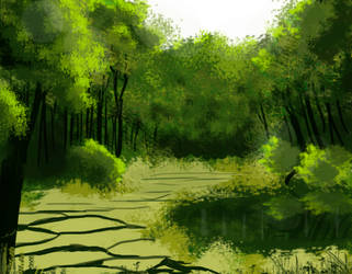 Forest Scene by Box787