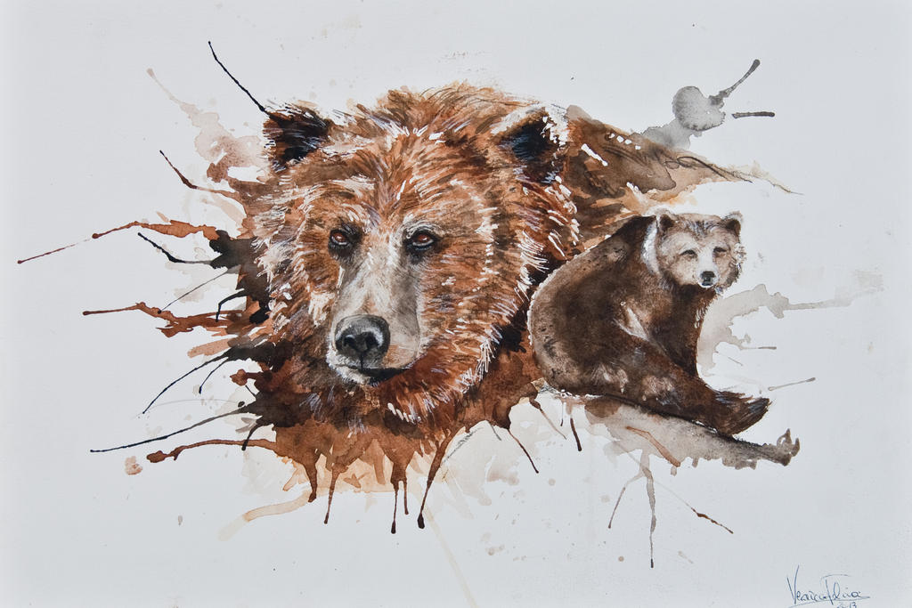 The Bear by VeroFalcioniArt