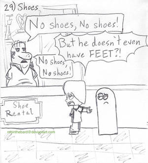 Inktober2020, Day 29: Shoes