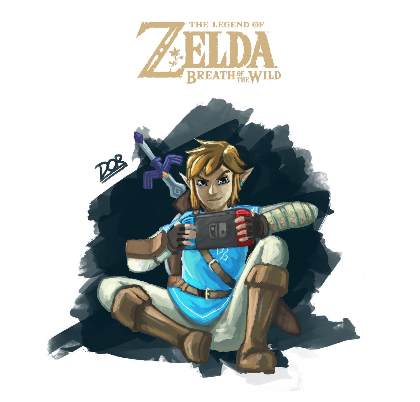 Zelda Botw Nintendo Switch Concept Art Fanart By Drixxart