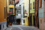 bright colors of cesky krumlov