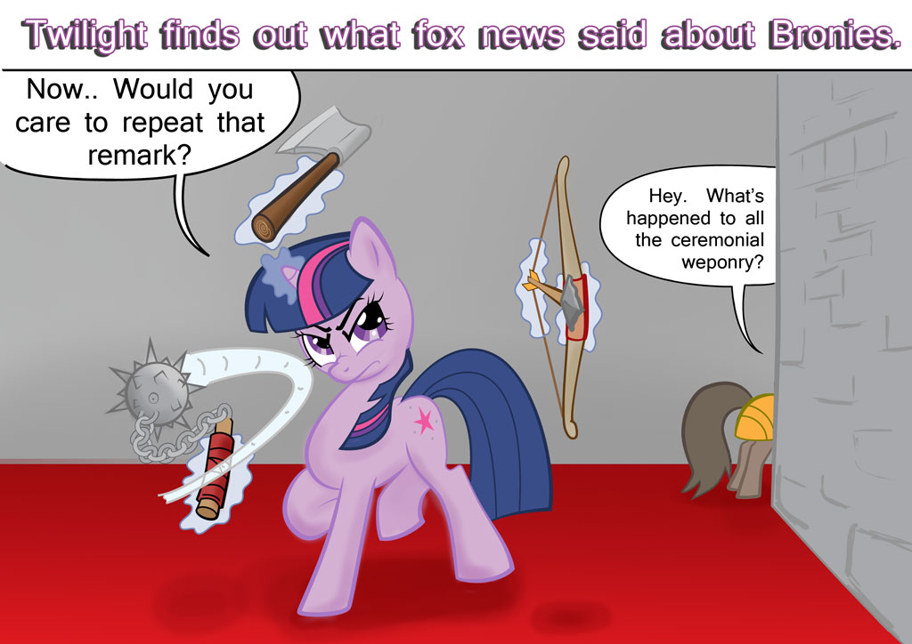 Twilight sparkle VS Fox News by Abrr2000