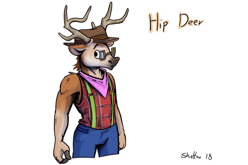 Hip Deer by Shieltar