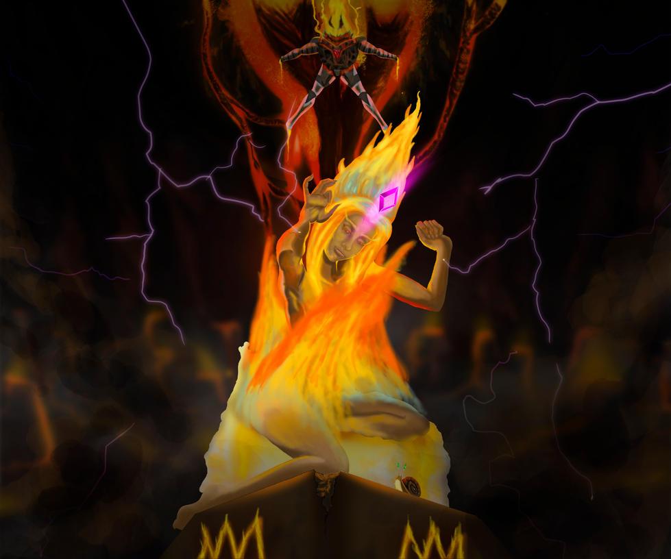O Nascimento da Princesa de Fogo by Wolfzero-kun
