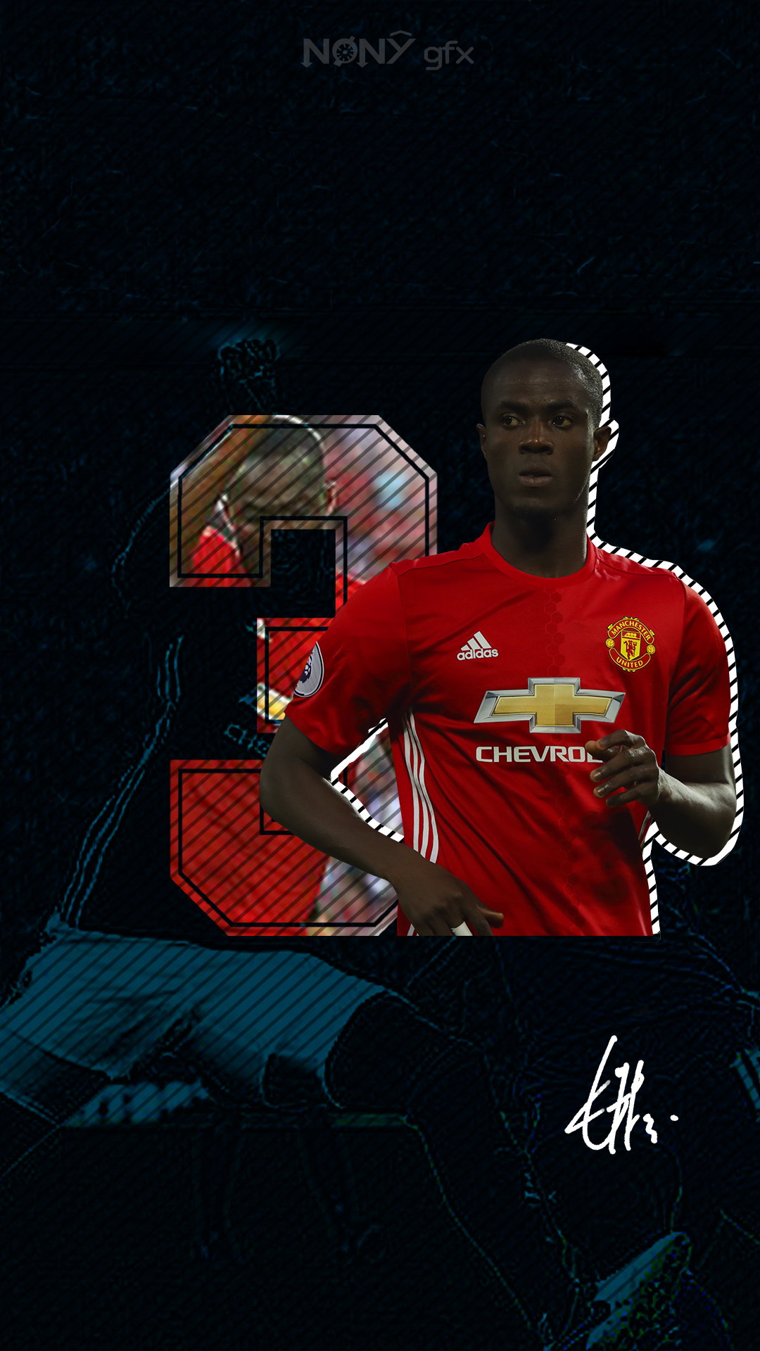 Eric Bailly Mobile Wallpaper by Nony14 on DeviantArt