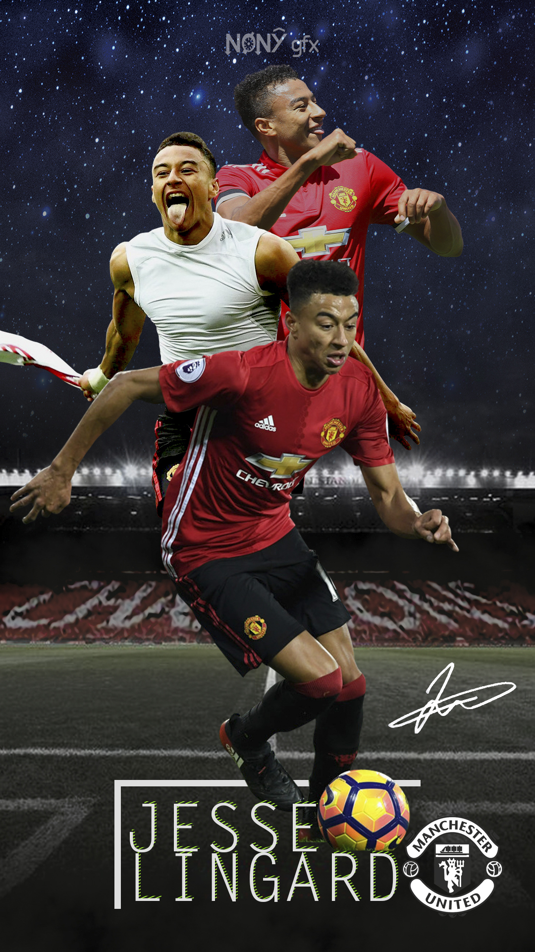 Jesse Lingard Signed Wallpaper By Nony14 On Deviantart