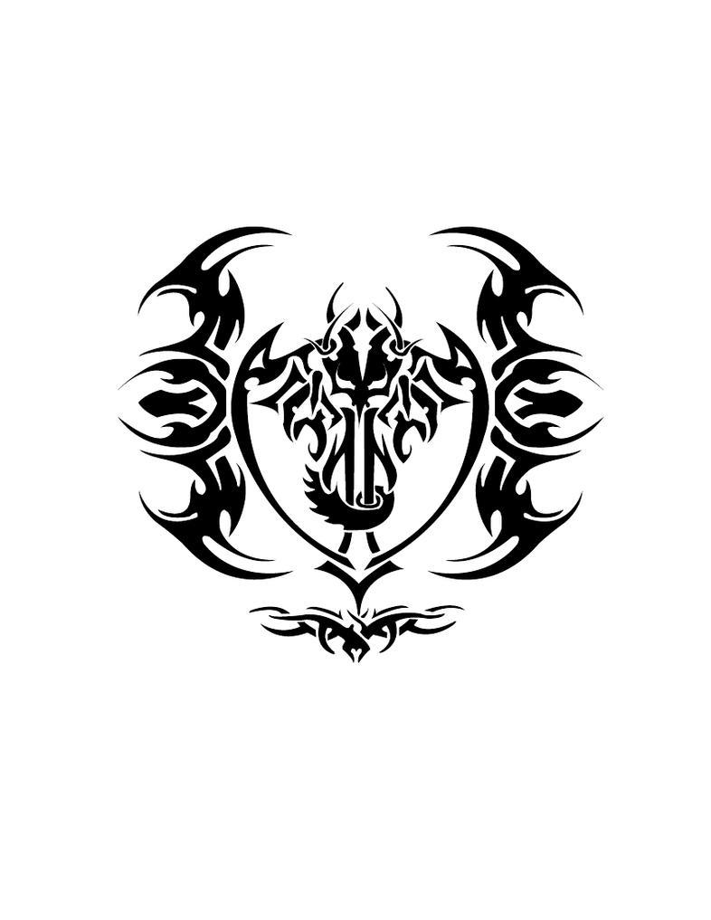 tribal dragon cross by reapr38 on deviantart. Black Bedroom Furniture Sets. Home Design Ideas