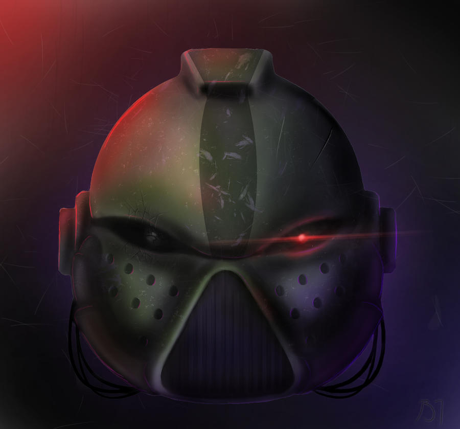 how to draw a space marine helmet