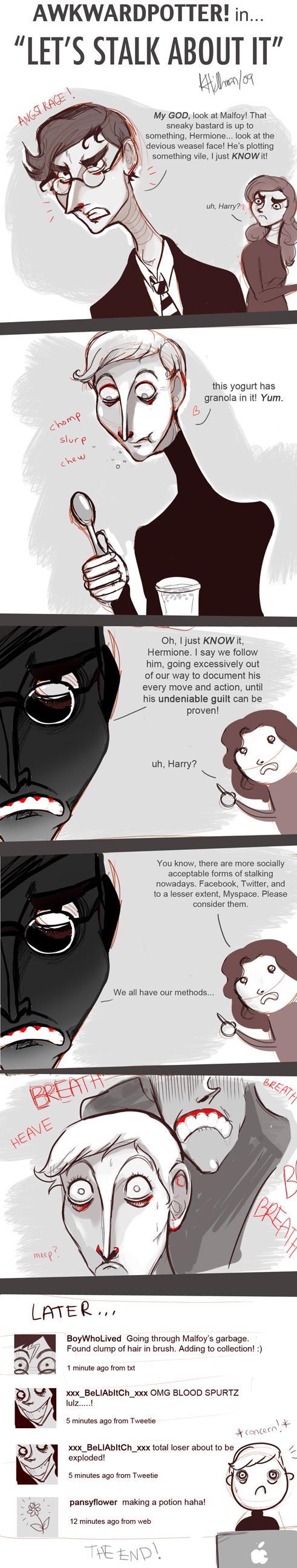 AWKWARDPOTTER: Stalking Draco by Buuya