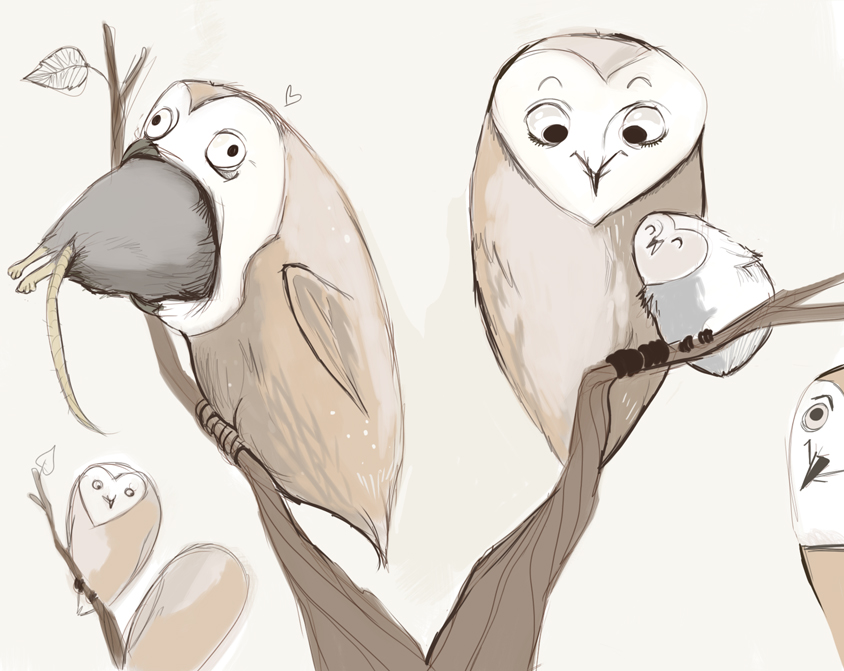 Thanksgiving Owls by Buuya